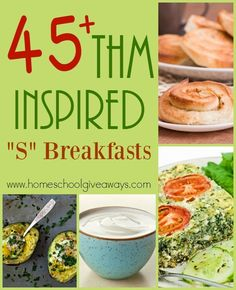 "If you're looking for some great recipes to follow along with the THM lifestyle, check out these ""S"" Breakfasts! :: www.homeschoolgiveaways.com"