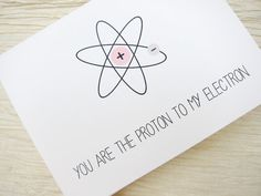 Nerdy Love Card. Science Anniversary Card. You are the by witsicle, $4.00