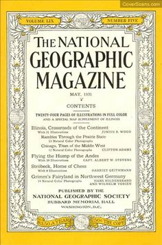 1931 - 05 - May / National Geographic Photography / Covers