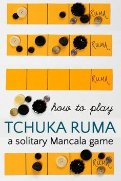 How to play Tchuka Ruma, a fun solitary Mancala game with math learning. Logic Games, Math Games, Fun Games, Games For Kids, Activities For Kids, Dice Games, Articulation Activities, Indoor Activities, Therapy Activities