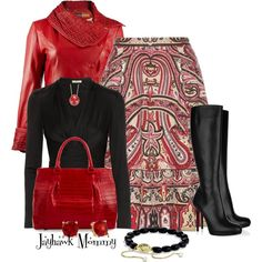 A fashion look from January 2015 featuring Issa blouses, Etro skirts and Christian Louboutin boots. Browse and shop related looks.