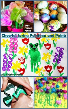 My Bright Firefly: Painting Spring with Cool Effects and Fun Supplies