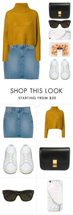 """""""Ice coffe ?"""" by igedesubawa ❤ liked on Polyvore featuring Monki, Vero Moda, adidas Originals, CÉLINE, russell+hazel, ootd, simpleoutfit and simpleset"""