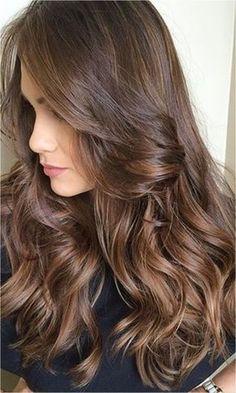New Ideas Hair 2018 Morenas Tendencia Balayage Hair, Ombre Hair, Hair 2018, How To Draw Hair, Brown Hair Colors, Brunette Hair, Hair Highlights, Gorgeous Hair, Pretty Hairstyles