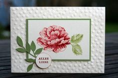 Stampin' Up! Stampin Up Anleitung, Altenew Cards, Birthday Cards For Women, Fun Fold Cards, Embossed Cards, Stamping Up Cards, Get Well Cards, Pretty Cards, Sympathy Cards