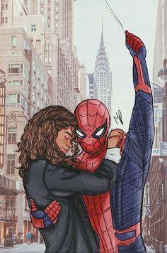 Drawing Marvel Spiderman: Far From Home fanart - Marvel Fan Art, Marvel Heroes, Marvel Characters, Marvel Avengers, Marvel Comics Art, Captain Marvel, Image Spiderman, Spiderman Art, Amazing Spiderman