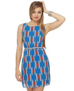 Bought this for the convention.. hope its not too short!  Kaleido-Scope Me Out Blue Print Dress