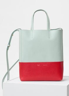 4296796aa605 Small Cabas Bag in Grained Calfskin - Céline Celine Tote