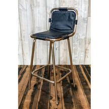 Factory bar stool with leather seat ATFUVF235B