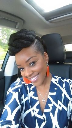 Top 25 updos for Black Women. Check out our list that incorporates everyday styles such as braids, twist, and locks that have transformed the boring updo. Natural Hair Updo, Pelo Natural, Natural Hair Journey, Natural Hair Styles, Natural Hair Twists, African Braids Hairstyles, Braided Hairstyles, Natural Updo Hairstyles, African American Updo Hairstyles