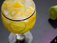 Pineapple and Lime Cocktail - Wishful Chef (Fruit Mean and Green Limes Pineapple juice Angostura bitters Sugar Shochu) Drinks Alcohol Recipes, Alcoholic Drinks, Cocktails, Beverages, Dessert Drinks, Dessert Recipes, Desserts, Carrot And Ginger, Pineapple Juice