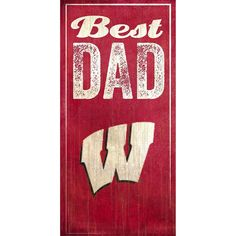 Wisconsin Badgers Best Dad Sign, Multicolor