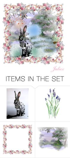 """Hare In the Medows"" by julidrops ❤ liked on Polyvore featuring art"