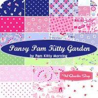 Pansy Pam Kitty Garden Fat Quarter BundlePam Kitty Morning for Lakehouse Dry Goods