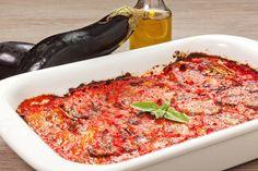 4 recipes under 4 ingredients: baked eggplantparm, flatbread pizza, portobello mushroom, honey mustard salmon