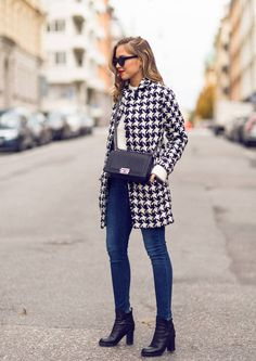 Black And White Houndstooth Coat  # #Kenzas #Fall Trends #Fashionistas #Best Of Fall Apparel #Coat Houndstooth #Houndstooth Coats #Houndstooth Coat Black and White #Houndstooth Coat Clothing #Houndstooth Coat 2014 #Houndstooth Coat Outfits #Houndstooth Coat How To Style