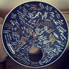 drum head and guitar wedding guest book - Google Search