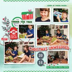 2016 xmas a.m. scrapbook page by Justine with The Lilypad products    #6photos #joycreated