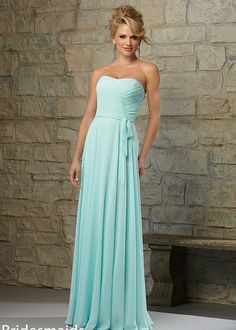 staggering Pleated Strapless Ruched Bodice Chiffon Mint Bridesmaid Dress by Alinna in Retroterest. Read more: http://retroterest.com/pin/pleated-strapless-ruched-bodice-chiffon-mint-bridesmaid-dress/