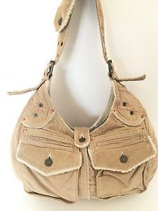 Gap Corduroy Bag Beige Faux Fur Bohemian Hip Designer Fashion Multi Pockets | eBay
