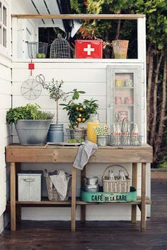 Outdoor shelving inspiration.