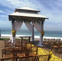 The gazebo has perfect views of the ocean and the blue sky #SecretsVallartaBay