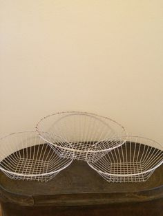 Set of 3 Vintage Wire  Bowls or Baskets by ContemporaryVintage