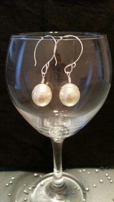 Ivory pearl earrings