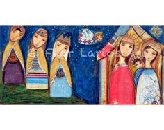 Nativity III  Reproduction from Painting by FLOR by FlorLarios, $15.00