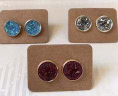 A personal favorite from my Etsy shop https://www.etsy.com/listing/490141475/earrings-mini-8mm-druzy-in-rose-gold-or