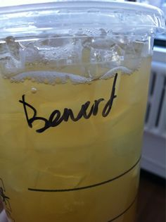 """If Starbucks decrees I be """"benerded,"""" so be it. Who's to argue with them?    Should be: Pinar"""