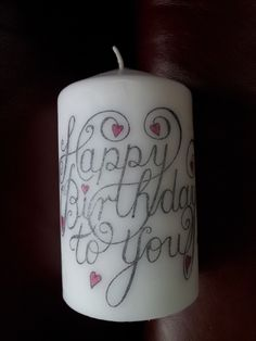 Happy Birthday Candle using the Happy Birthday Clarity Stamp