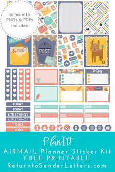 Free Printable Airmail Weekly Planner Stickers | Return to Sender: Letters to the World