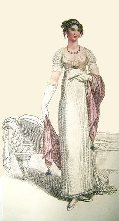 Evening Dress, 1810. Historical Costume, Historical Clothing, Jane Austen, Regency Dress, Regency Era, Opera Dress, Vintage Outfits, Vintage Fashion, 19th Century Fashion