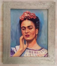 Amazing Frida Kahlo painting by Mexican artist Amy Gastelum art oil canvas