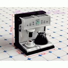 Machine à café en métal - DM110W 1/12ème #maisondepoupées #dollhouse #accessoires #accessories #meuble #furniture #miniature #metal
