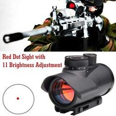 Tactical 11mm Hunting Scope Holographic Reflex Red Dot Sight Airsoft Scope UK