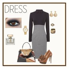 """Long sleeve dress"" by angela-vitello on Polyvore featuring Christian Louboutin, Fendi, Brooks Brothers, Michael Kors and Gucci"