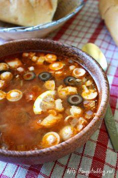 Рецепт вкусной наваристой солянки.