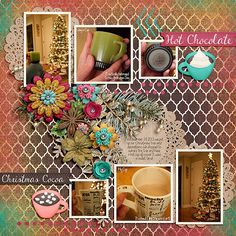 We enjoyed hot chocolate after putting up our Christmas tree last year. Cocoa Kissmas by Bella Gypsy  http://scraporchard.com/market/Cocoa-Kissmas-Digital-Scrapbook-Kit.html  Fuss Free: Mystified by Fiddle-Dee-Dee Designs  http://scraporchard.com/market/Fuss-Free-Mystified-Digital-Scrapbook.html  Font is KG Begin Again