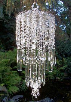Shimmery Chandelier Vintage Crystal Wind Chime