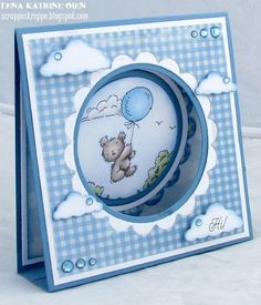 Lena Katrine`s Scrappeskreppe: GD Lili of the Valley August - Project Fancy Fold Cards, Folded Cards, Baby Motiv, Baby Shower Invitaciones, New Baby Cards, Shaped Cards, Tent Cards, Baby Shower Cards, Baby Scrapbook