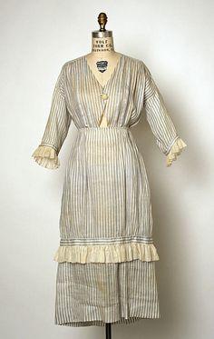 Dress Jacques Doucet  (French, Paris 1853–1929 Paris)  Date: 1918–19 Culture: French Medium: cotton. Front