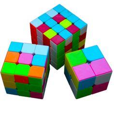 Buy 3Pcsset Rubik Magic Cube 2X2X2 Mini Pocket Puzzle Cube 3X3X3 Cubo Square 4X4X4 Cube #Rubiks #Cube
