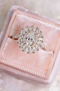 Engagement Rings : rose gold halo pave engagement rings 3 #Rings https://inwomens.com/2018/03/05/engagement-rings-rose-gold-halo-pave-engagement-rings-3/ #weddingring