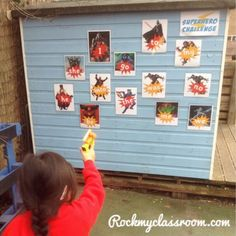 Shoot the tricky word baddies movement activity Eyfs Classroom, Superhero Classroom, Outdoor Classroom, Superhero Ideas, Superhero Party, Superhero Writing, Superhero School, Classroom Hacks, Phonics Activities