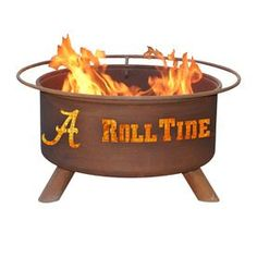 Patina Products 24-In W Natural Rust Steel Wood-Burning Fire Pit F410