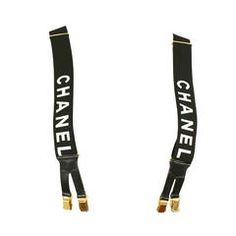 No Way - I'm speechless.... Iconic Chanel 1990s Black and White Suspenders.