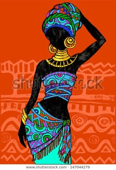 Find Hand Drawn Illustration Beautiful Black Womanafrican stock images in HD and millions of other royalty-free stock photos, illustrations and vectors in the Shutterstock collection. Thousands of new, high-quality pictures added every day. Black Women Art, Black Art, Afrika Tattoos, African Art Paintings, African Drawings, Afrique Art, Art Premier, African American Art, African Women