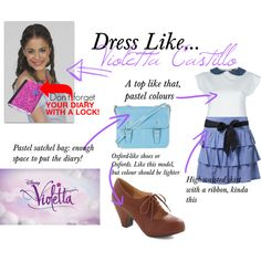 Dress Like... Violetta Castillo by sweetheartlucy on Polyvore featuring polyvore, fashion, style, Labour of Love, even&odd, Chelsea Crew, Topshop and Disney